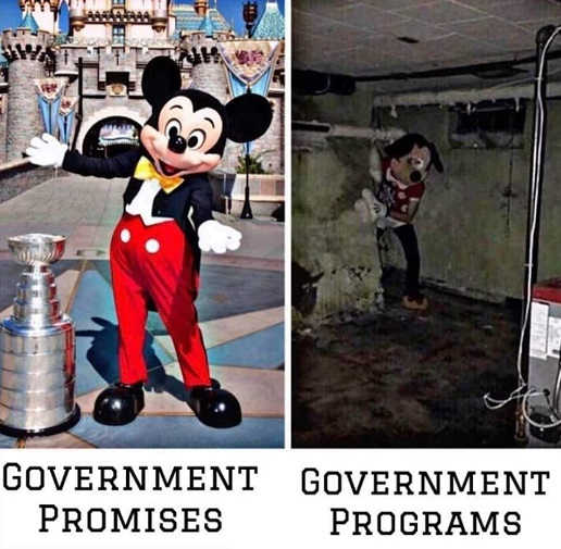 mickey mouse government promises vs reality