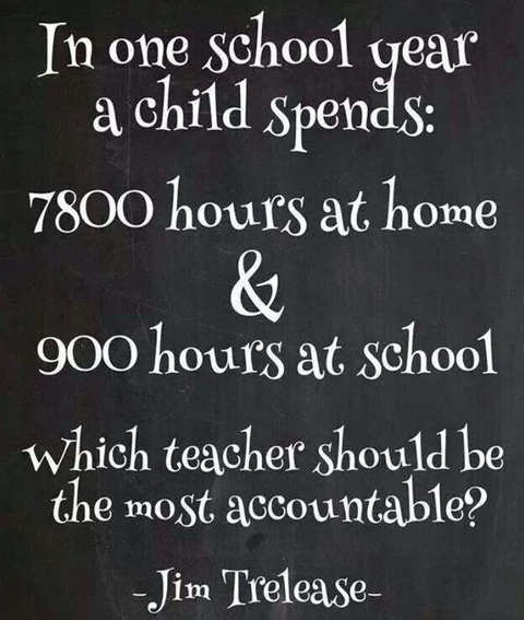 quote in 1 school year 7800 hours home 900 hours at school who is more accountable