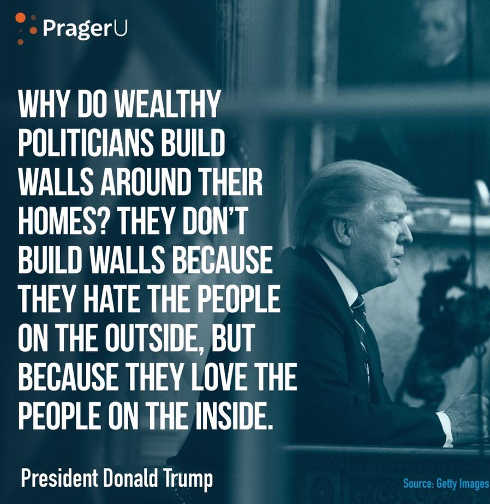 quote trump politicians build walls protect people they love not keep out people they hate
