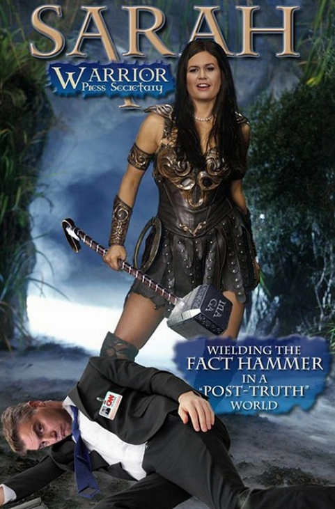 sarah sanders warrior press secretary slaying jim acosta
