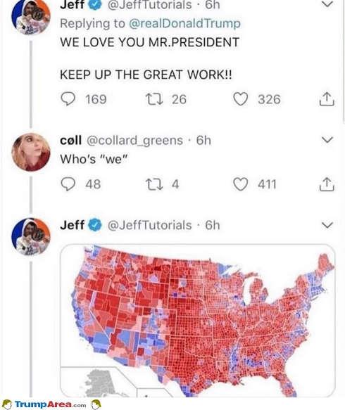 tweet we love you mr president whos we electoral map
