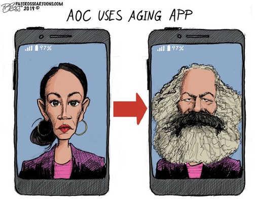 aoc uses aging app karl marx ocasio cortez