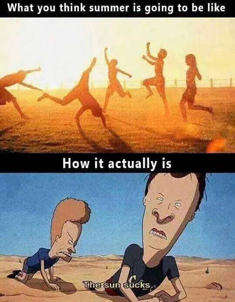 beavis butthead how you think summer is how actually