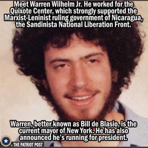 bill de blasio warren wilhelm jr quixote center sandinista marxist leninist