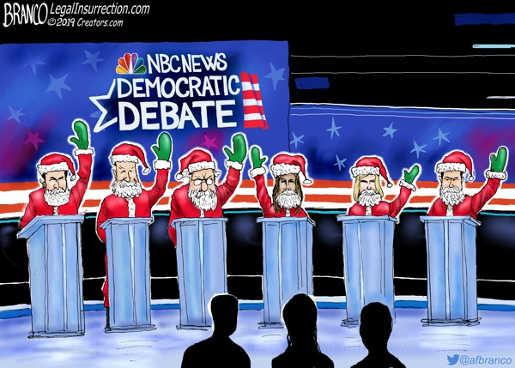democratic debate santa claus