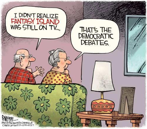 didnt realize fantasy island still on tv thats democratic debates