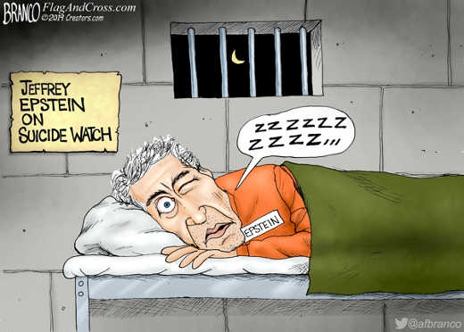 jeffrey epstein on suicide watch eye open hillary bill clinton