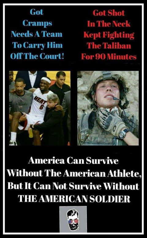 lebron james cramps american soldier shot need soldiers not athletes