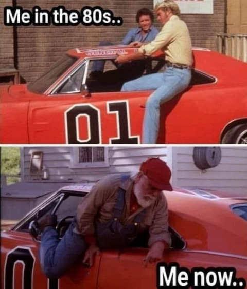 me in the 80s vs now dukes of hazzard bo luke uncle jesse