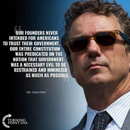 quote founders never intended americans to trust government rand paul