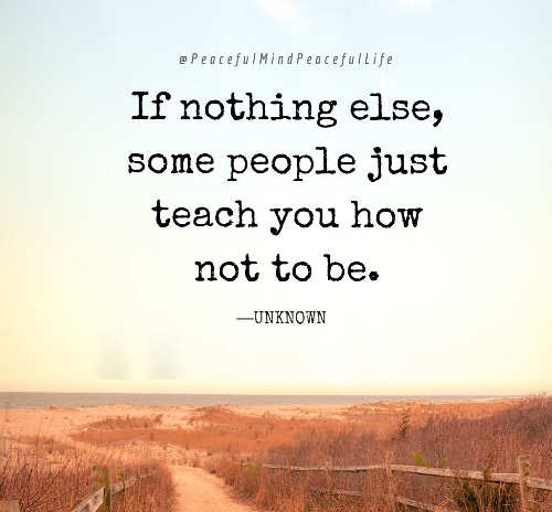 quote if nothing else some people just teach you how not to be