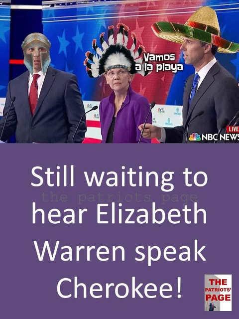 still waiting for elizabeth warren to speak cherokee beto orourke spartacus spanish