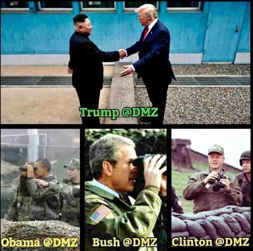 trump dmz compared to bush obama clinton