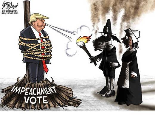 trump impreachment vote blowing torch democrats