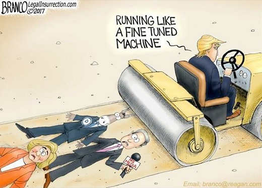 trump running like a fine tuned machine over democrats media hillary
