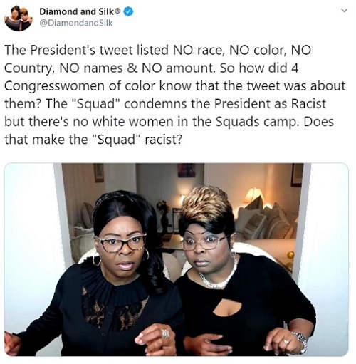 tweet diamond silkthe-squad-are-idiots