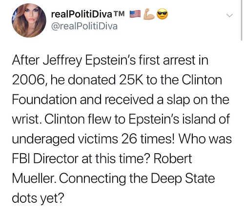 tweet epstein clinton mueller connections deep state