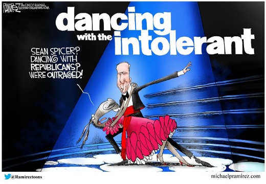 dancing with the intolerant sean spicer