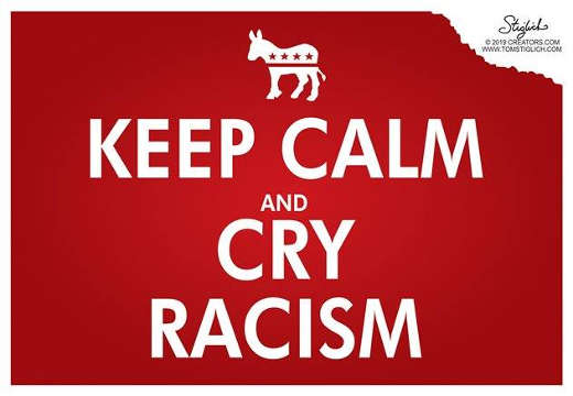 democrats keep calm and cry racism