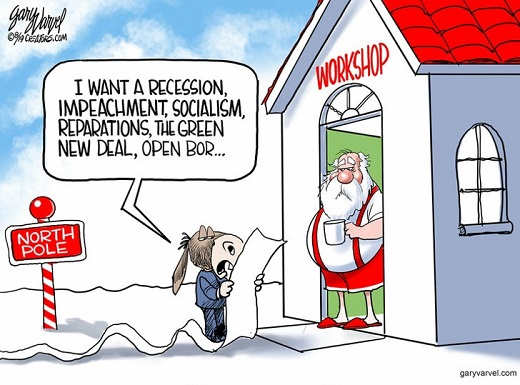 democrats wish list recession impeachment socialism open border santas workshop