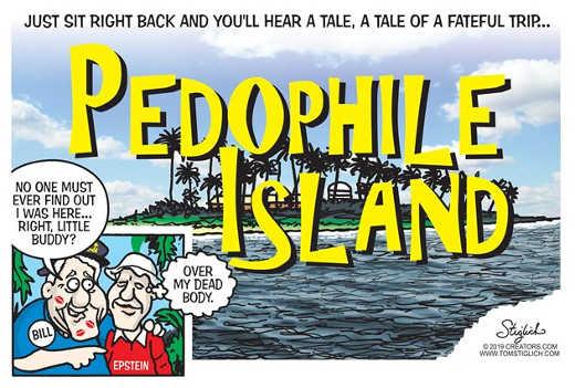 jeffrey epstein bill clinton pedophile island