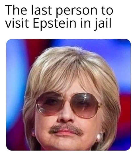 last person to visit epstein in jail hillary mustache