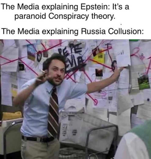 media explaining epstein paranoid conspiracy theory russian collusion