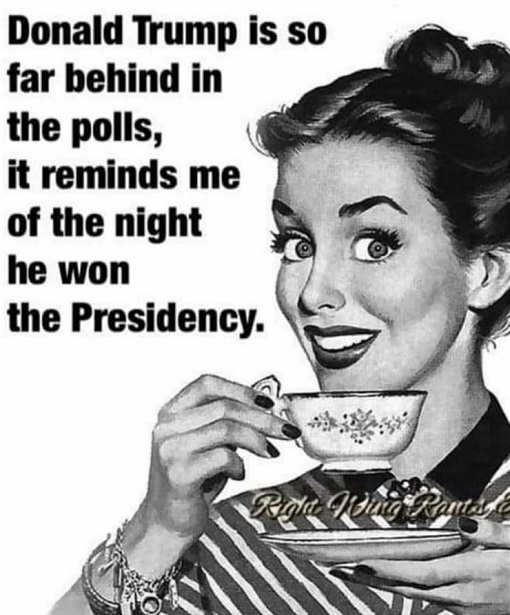 trump so far behind in polls it reminds me of night he won presidency