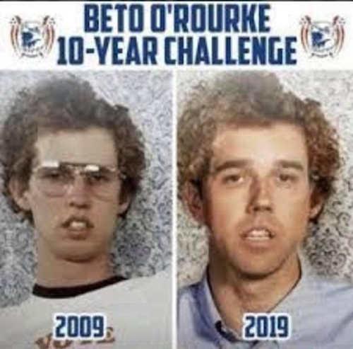 beto orourke 10 year challenge napolean dynamite