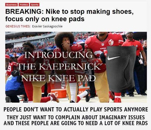 breaking news nike stop making shoes focus on knee pads kaepernick