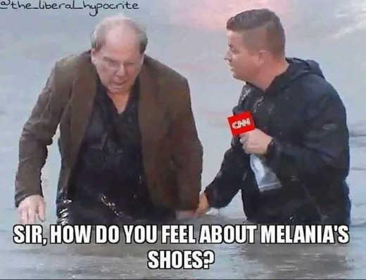 cnn sir how do you feel about melanias shoes flood zones