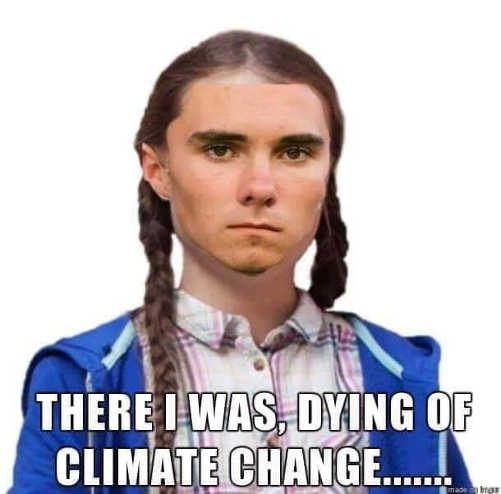 david hogg there i was dying of climate change