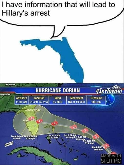 hurricane dorian have information on hillary clinton