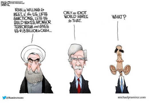 iran no talks unless sanctions listed billion bribe what idiot would agree obama