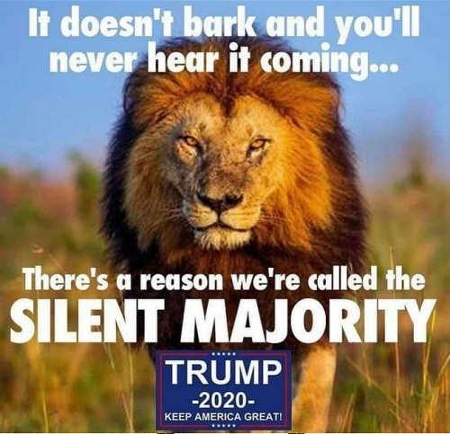 it doesnt bark never hear coming silent majority trump 2020
