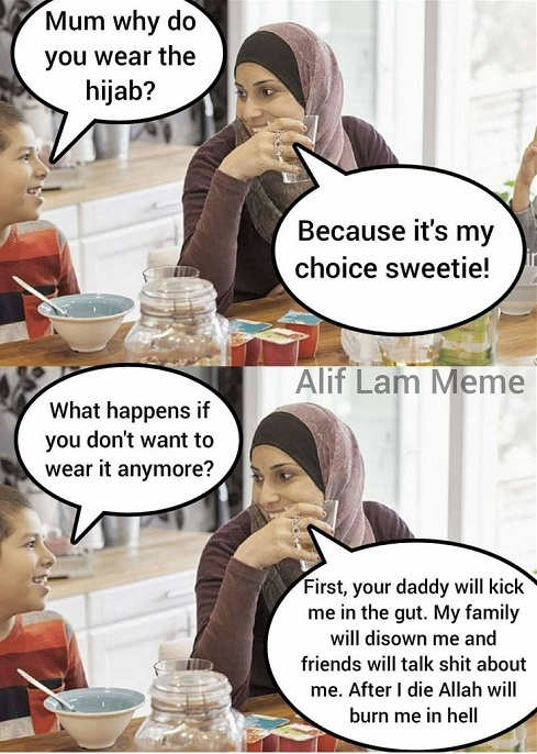 mom why wear hijab my choice husband will beat go to hell