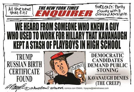 new york times enquirer kavanaugh smear