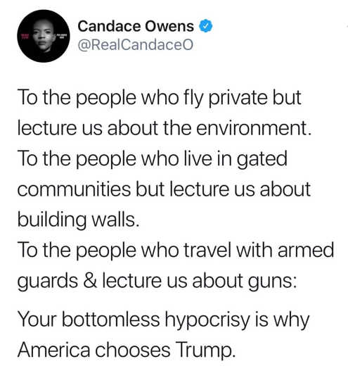 quote candace owns left hypocrisy why trump elected