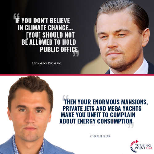 quote dicaprio climate change charlie kirk