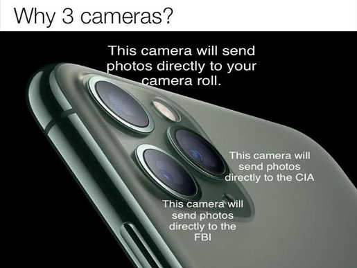 why 3 cameras apple iphone one for you fbi cia