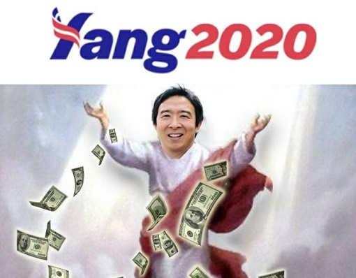 yang 2020 throwing money around