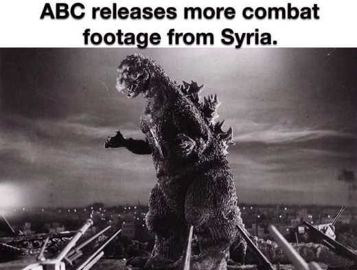 abc releases more combat footage from syria godzilla