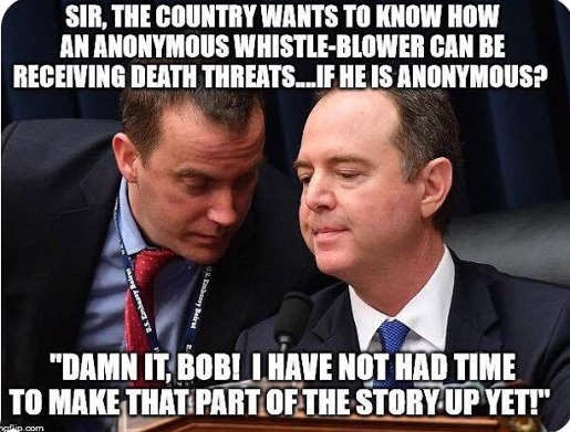 adam schiff country wants to know how anonymous whistle blower can receive death threats