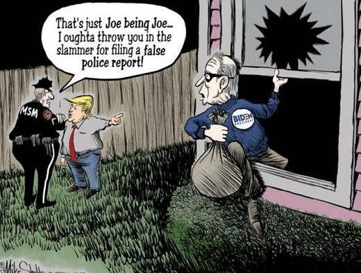 burglar thats just joe being joe mainstream media attack trump