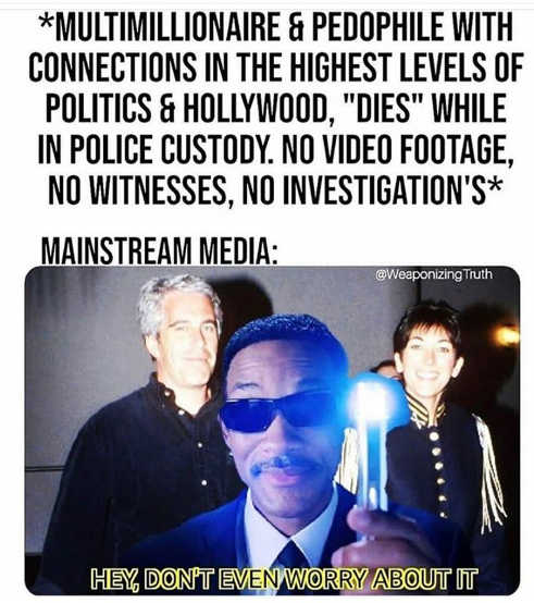 epstein pedophile connections to highest levels of hollywood politics media dont worry about it men in black