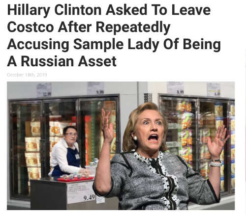 hillary clinton asked to leave costco babylon bee