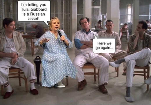 hillary clinton one flew over cuckoos nest tulsi gabbard russian agent