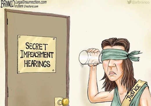 lady justice blind cant hear secret impeachment hearings