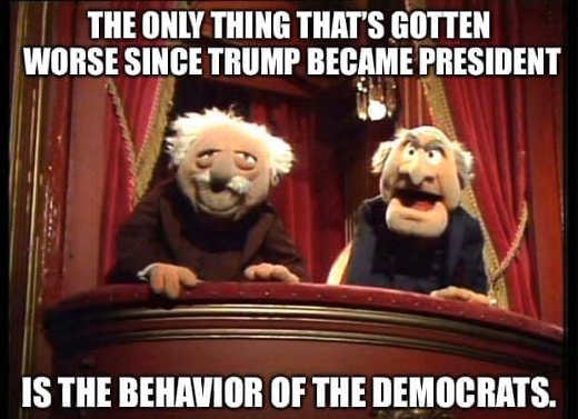 muppets old guys only thing gotten worse since trump elected behavior of democrats