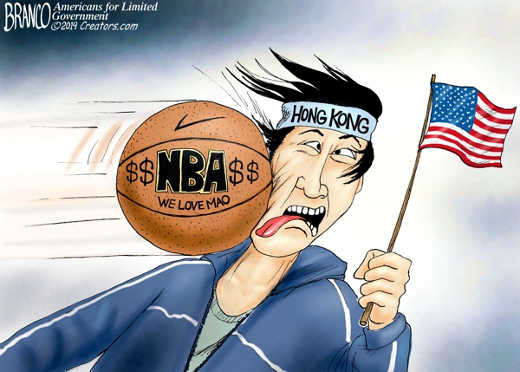 nba hit hong kong freedom in face
